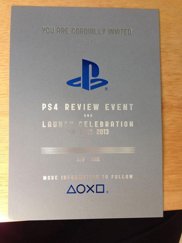 Sonyがニューヨークで「PlayStation 4」の発売を祝うレビューイベントを11月11日と12日に開催