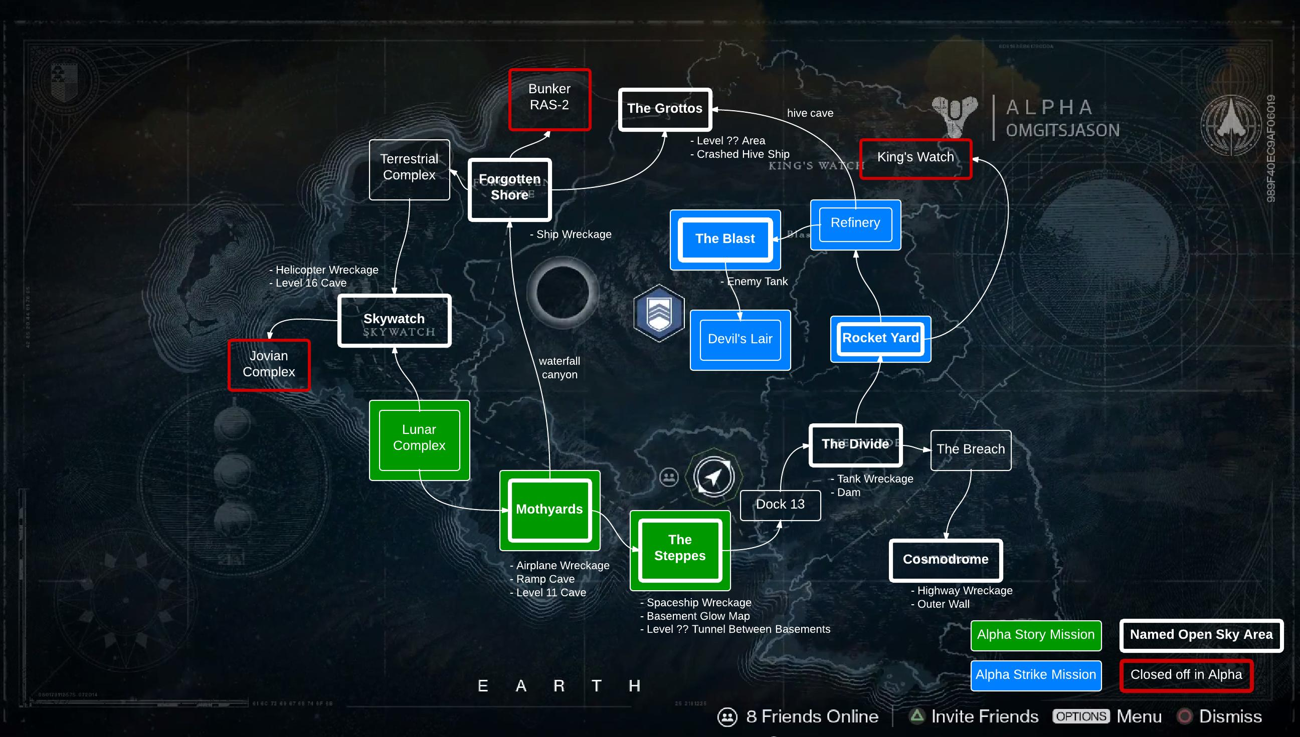 Cosmodrome Map Destiny