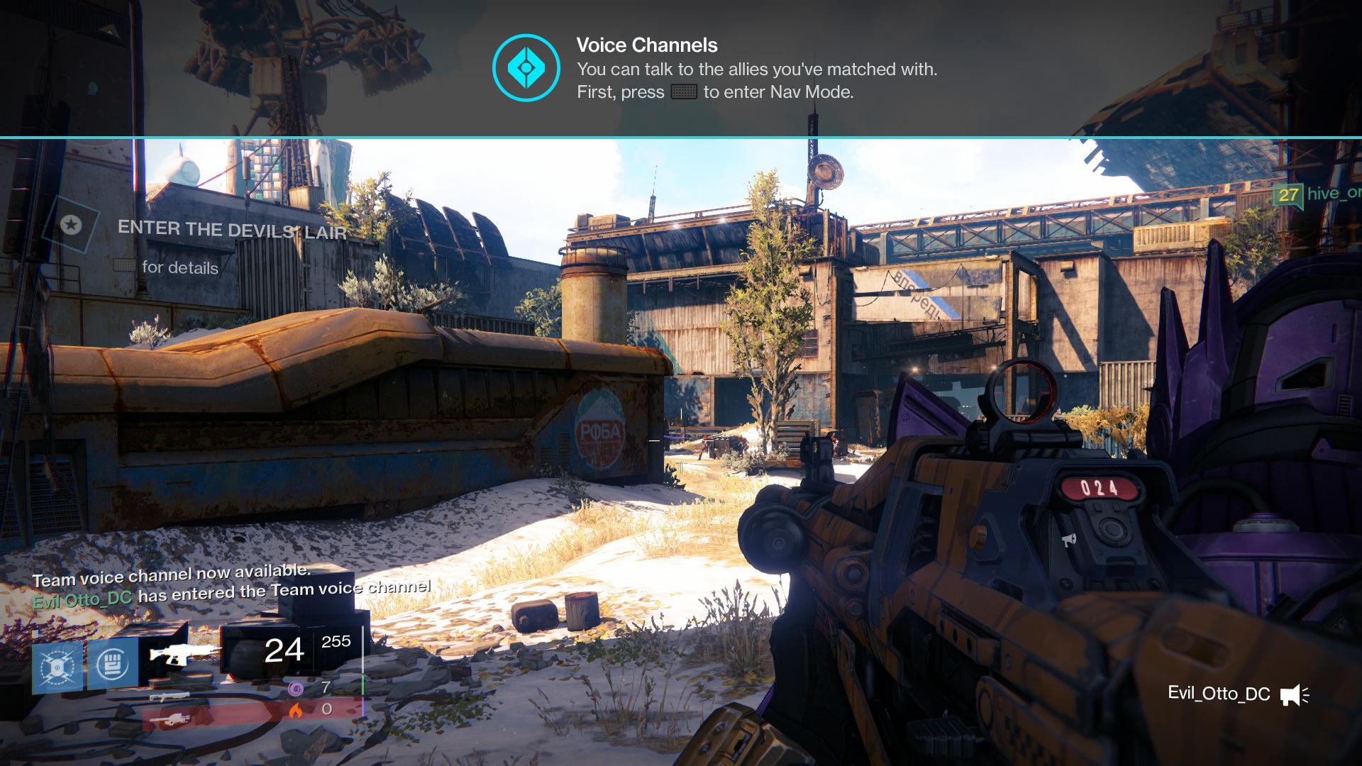 「Destiny」に切り替え可能な選択式のボイスチャットが導入、実装は11月18日予定