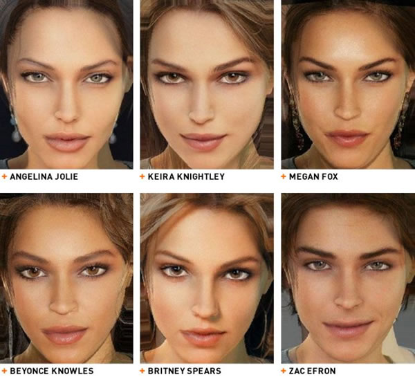 Celebrities game characters   Funny Celebrity Face Morph