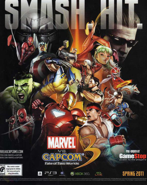 「Marvel vs. Capcom 3」「Marvel Vs Capcom 3: Fate of Two Worlds」 マーブル カプコン MvC3