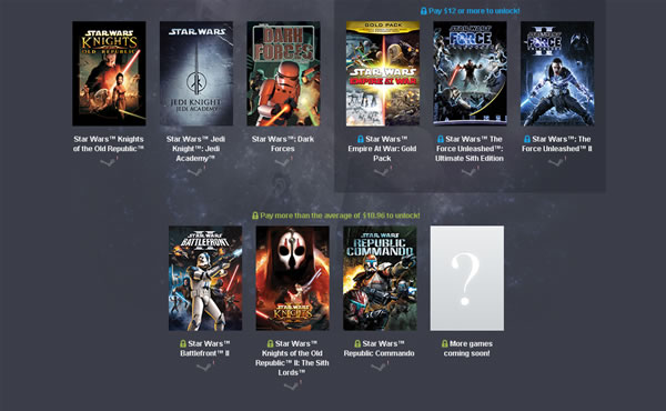 「Star Wars Humble Bundle」