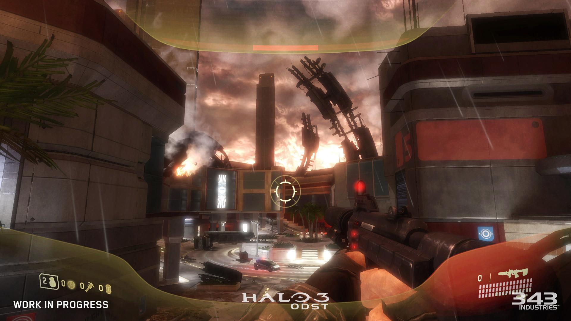 343が master chief collection 版 halo 3 odst 初のスクリーン