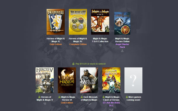 「Humble Might & Magic Bundle」