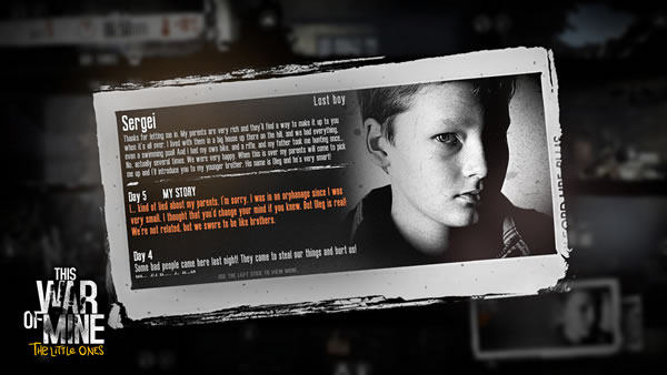 「This War of Mine: The Little Ones」
