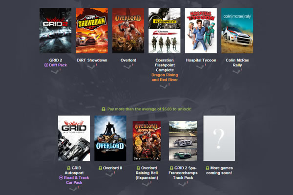 「Humble Codemasters Bundle」