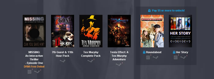「 Humble Weekly Bundle: Full Motion Video 」