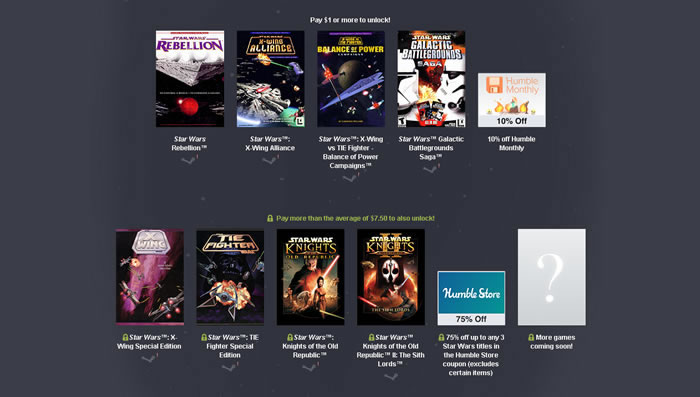 「Star Wars Humble Bundle II」