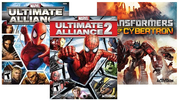 「Transformers: Fall of Cybertron」「Marvel: Ultimate Alliance」