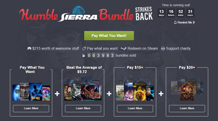 「 Humble Sierra Bundle」