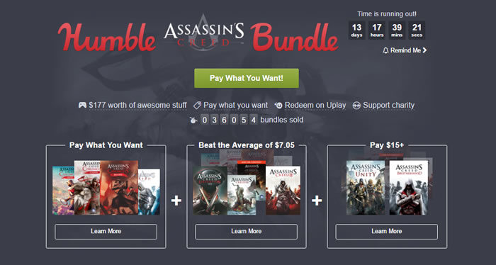 「Humble Assassin's Creed Bundle」
