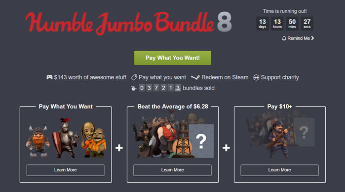 「Humble Jumbo Bundle 8」