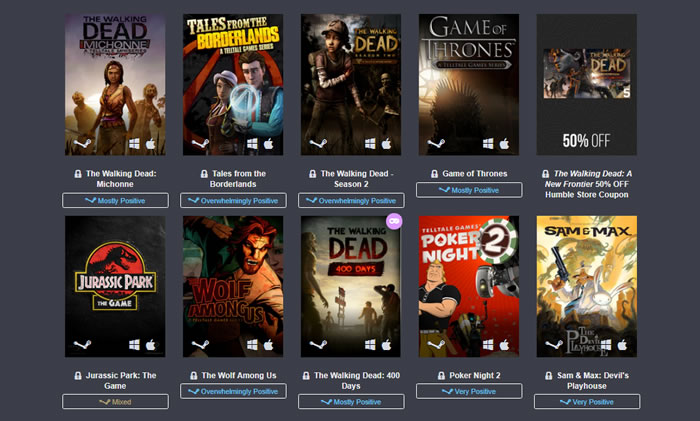 「Humble Telltale Bundle」