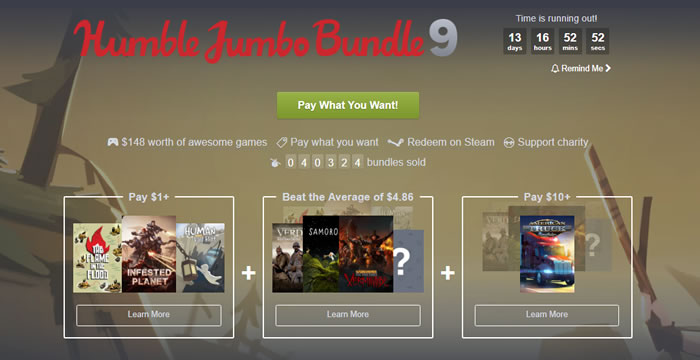 「Humble Jumbo Bundle 9」