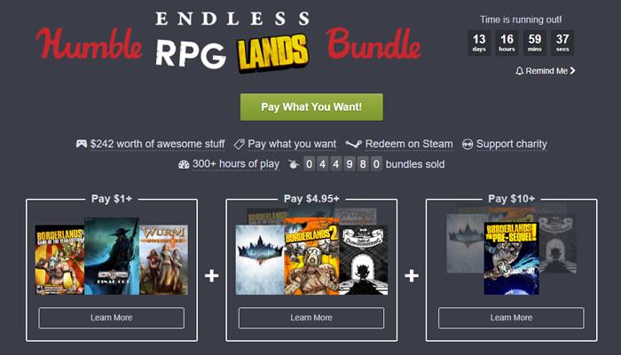 「Humble Endless RPG Lands Bundle」