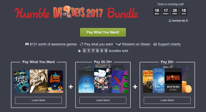 「Humble Day of the Devs Bundle 2017」