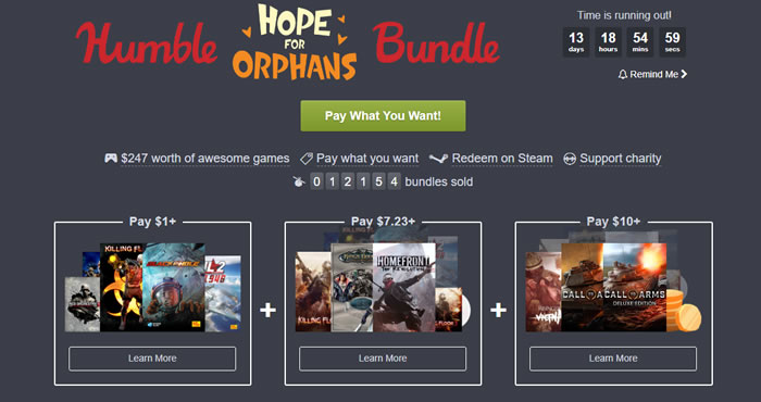 「Humble Hope for Orphans Bundle」