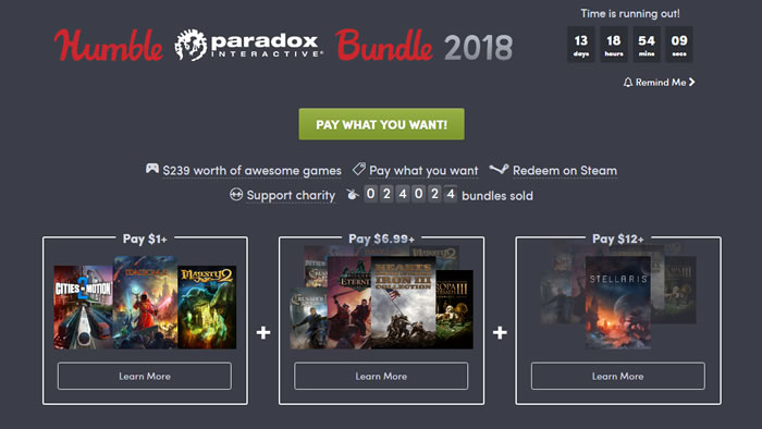 「Humble Paradox Bundle 2018」