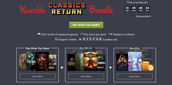 「Humble Classics Return Bundle」