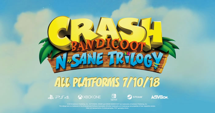 「Crash Bandicoot N. Sane Trilogy」