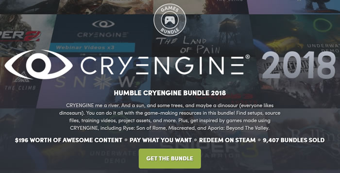 「Humble CRYENGINE Bundle 2018」