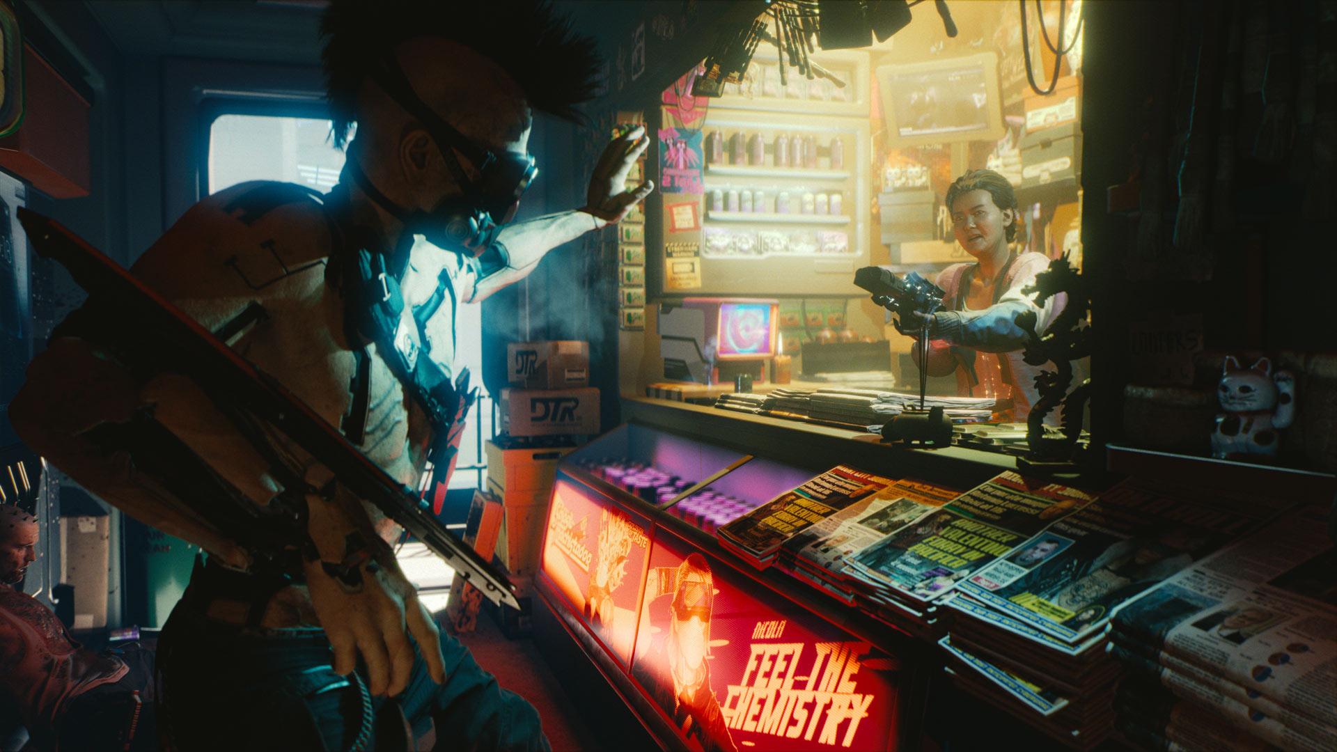 大都市night cityの日常を描いた cyberpunk 2077 の日本語字幕入りe3