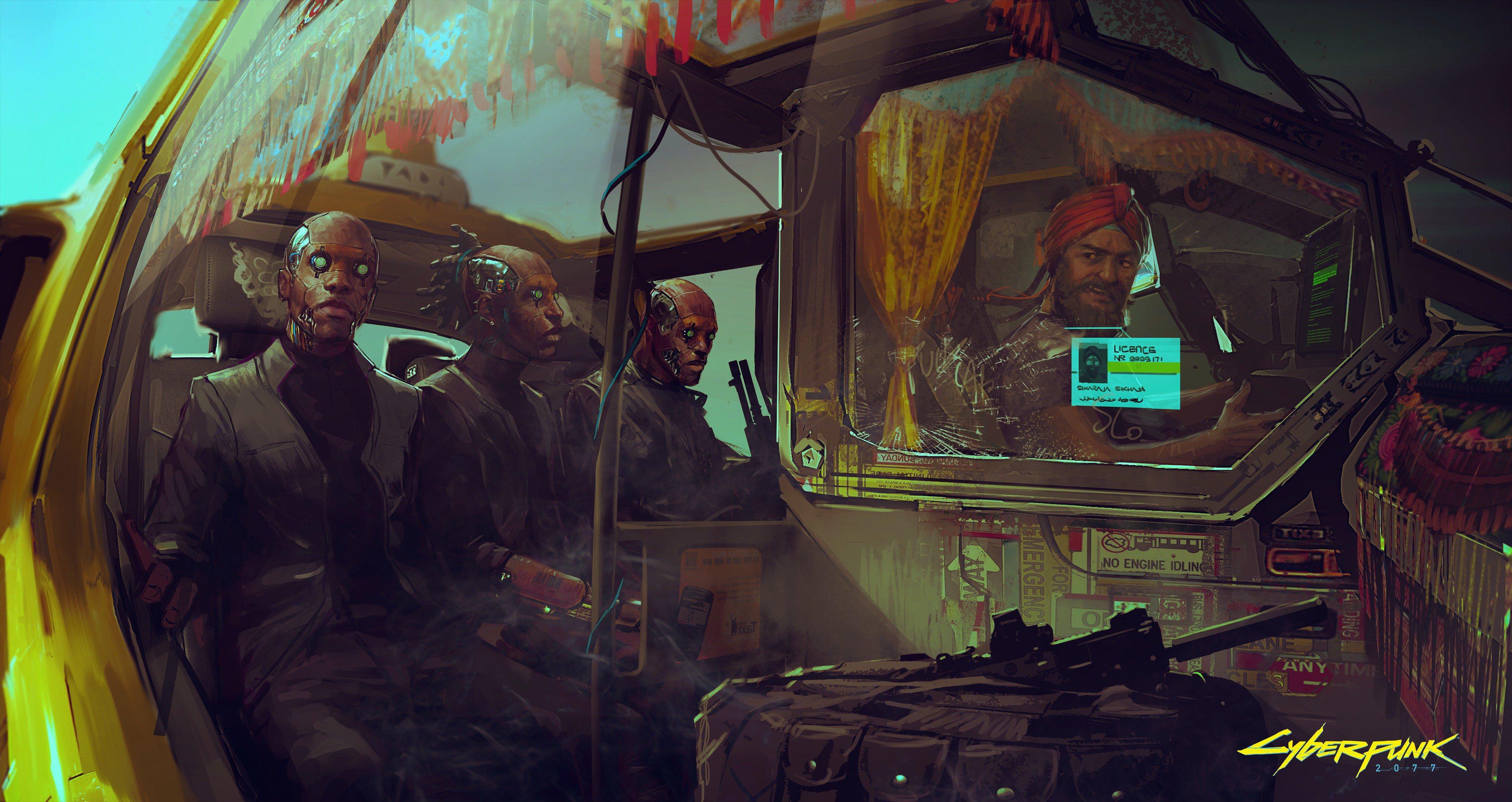 サイバーパンク2077 の新たなコンセプトアートが4枚お披露目 謎のargも