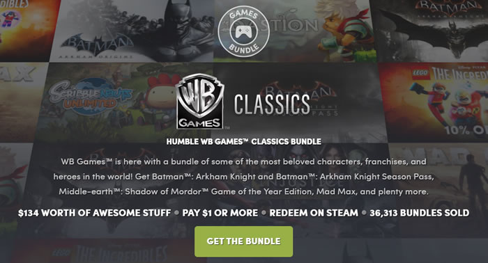 「Humble WB Games Classics Bundle」