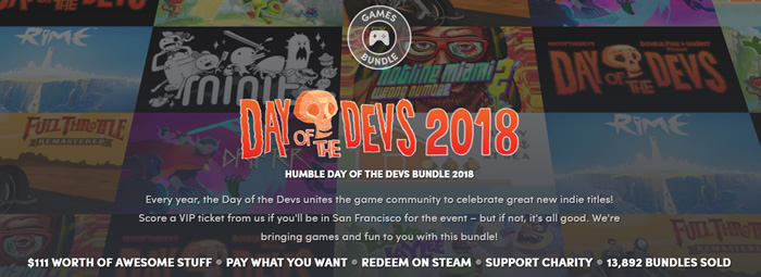 「Humble Day of the Devs Bundle 2018」