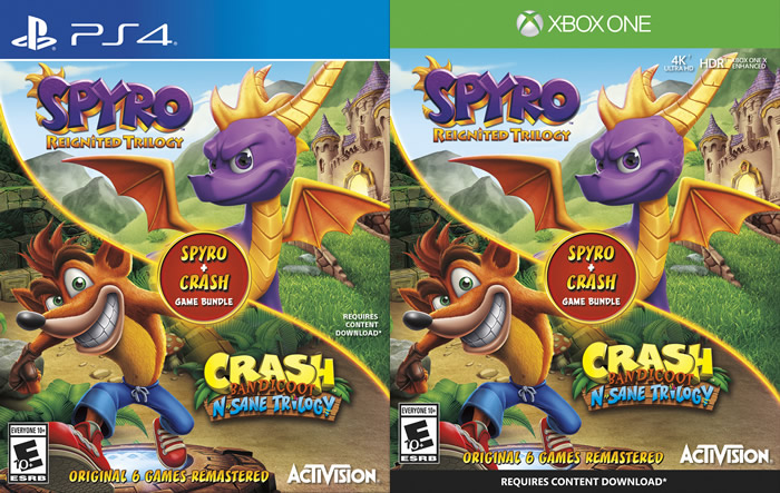 「Spyro Reignited Trilogy」「Crash Bandicoot N. Sane Trilogy」