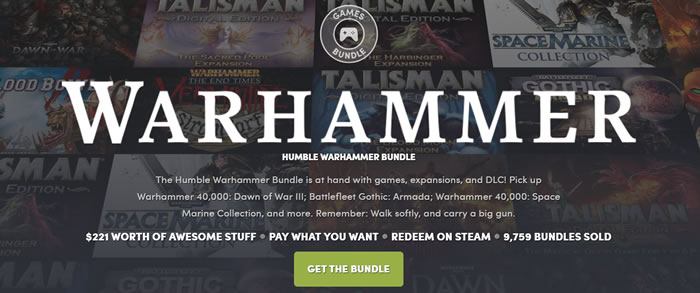 「Humble Warhammer Bundle」