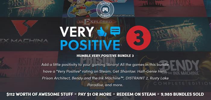 「Humble Very Positive Bundle 3」