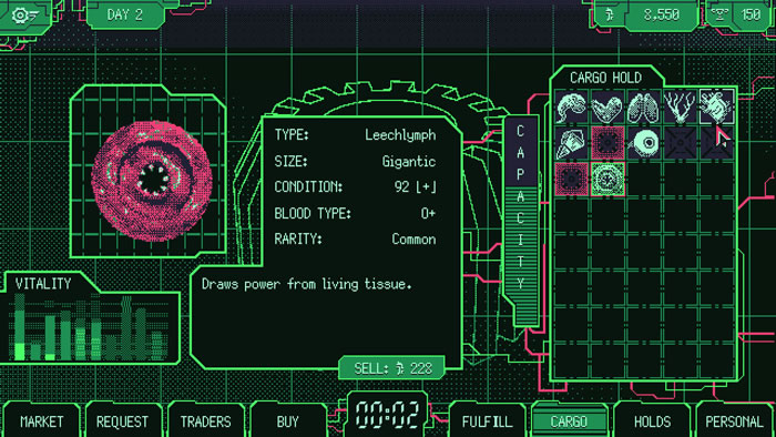 「Space Warlord Organ Trading Simulator」