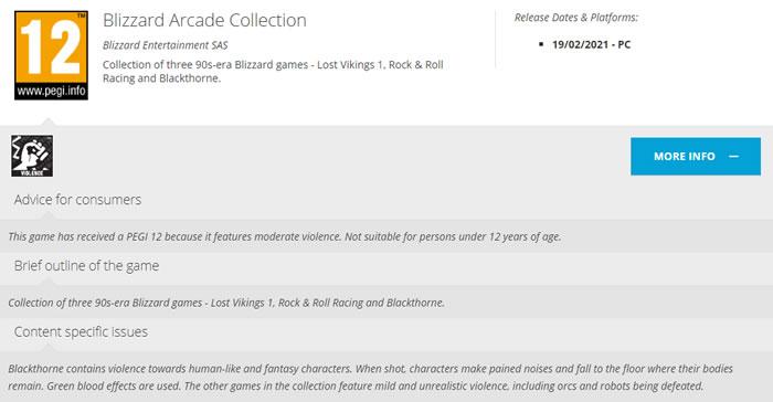 「Blizzard Arcade Collection」